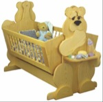 fee plans woodworking resource from WoodworkersWorkshop Online Store - cradles,babys,babies,childs,childrens,kids,bears,bear-y,woodworking plans,projects,easy,beginner,patterns,full-sized,templates
