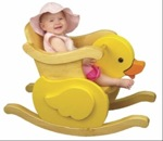 19-W3316 - Little Duckie Infant Rocker Woodworking Plan.