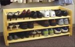 19-W3325 - Stackable Shoe Rack Woodworking Plan.