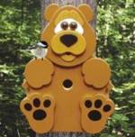 Bear Cub Birdhouse Woodworking Plan.