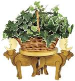 Moose Plant Stand Woodworking Plan.