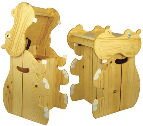 Hippo Hamper Woodworking Plan.