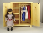 Doll Armoire Woodworking Plan., doll furniture,armoire,dolls armoire,storage,fee woodworking plans,projects,patterns,blueprints,build,construction,how to,diy,do-it-yourself