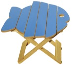 19-W3459 - Folding Fish Table Woodworking Plan.