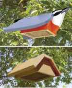 Underside Suet Feeders Woodworking Plan.