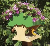 Planter Bird Feeder Woodworking Plan.