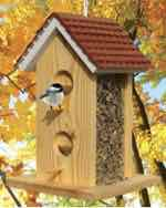 19-W3482 - Scallop Roof Bird Feeder Woodworking Plan