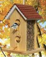 Scallop Roof Bird Feeder Woodworking Plan.