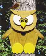 Owl Birdhouse Woodworking Plan.