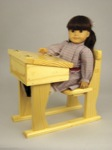 19-W3495 - Doll School Desk Woodworking Plan.