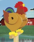 Rooster Birdhouse Woodworking Plan