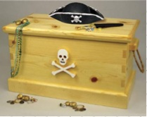 Pirate Chest Woodworking Plan.