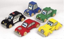 Cartoon Cars Woodworking Plan Set of 5.