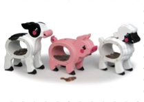 19-W3545 - Barnyard Baby Coin Banks Woodworking Plan