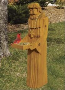 St. Francis Bird Feeder Woodworking Plan.