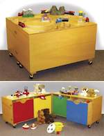 Hinged Toy Cabinet Woodworking Plan.