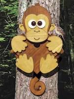 Tree Monkey Birdhouse Woodworking Plan.