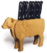 Steak Knife Holder Woodworking Plan.