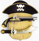 Pirate Pistol and Dagger Woodworking Plan.