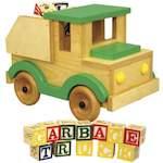 Garbage Truck Toy Woodworking Plan.