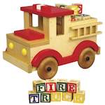 Fire Truck Toy Woodworking Plan.
