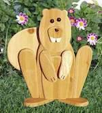 Garden Lookout Squirrel Woodworking Plan - Paper plan