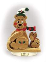Christmas Bear 2013 Woodworking Plan, bears,Christmas,sleds,full sized patterns,woodworking plans,woodworkers projects,blueprints,drawings,blueprints,how-to-build,MeiselWoodHobby