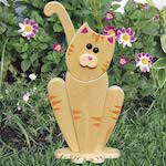 19-W3698 - Garden Lookout Cat Woodworking Plan
