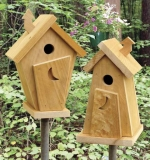 Outhouse Wren Houses  Woodworking Plan