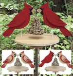 fee plans woodworking resource from WoodworkersWorkshop® Online Store - birdfeeders,cardinals,birds,full sized patterns,woodworking plans,woodworkers projects,blueprints,drawings,blueprints,how-to-build,MeiselWoodHobby