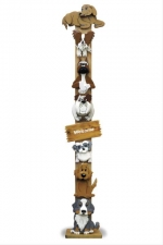19-W3716 - Dogwood Tree Totem Pole Woodworking Plan