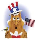 Uncle Sam Birdhouse Woodworking Plan