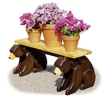 Black Bear Planter Bench Woodworking Plan. - Paper plan woodworking plan