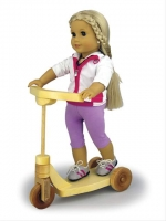 Doll Scooter Woodworking Plan, American dolls,scooters,bikes,toys,childs,children,kids,full sized patterns,woodworking plans,woodworkers projects,blueprints,drawings,blueprints,how-to-build,MeiselWoodHobby