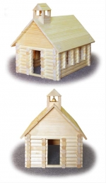 Wilderness Schoolhouse Woodworking Plan