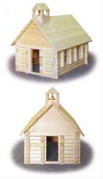 Wilderness Schoolhouse Woodworking Plan