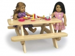 19-W3771 - Doll Picnic Table Woodworking Plan