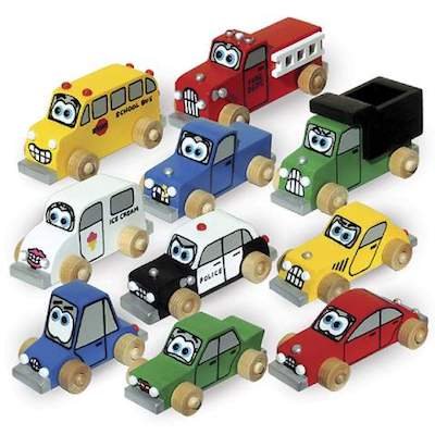 Mini Cartoon Cars and Trucks Woodworking Plans