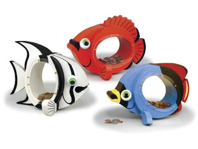 Tropical Fish Coin Banks Woodworking Plans