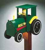 Tractor Mailbox Woodworking Plan.