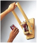 Wall Mounted Can Crusher Woodworking Plan.