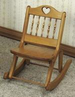 19-W801 - Folding Rocking Chair Woodworking Plan - for ages 1-1/2 to 3 yrs.