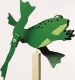 Frog Whirligig Woodworking Plan.