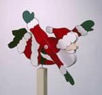 Santa Whirligig Woodworking Plan.