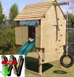 fee plans woodworking resource from WoodworkersWorkshop Online Store - childs play forts,slides,tire swings,kids,childrens,play gym,hideout,free standing,fee woodworking plans,projects,patterns,blueprints,build,construction,how to,diy,do-it-yourself