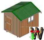24-005 - 8x10ft Storage Shed Woodworking Plan