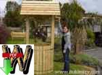 24-010 - Giant Garden Wishing Well Woodworking Plan
