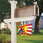 28-149118 - Celebration Mail Box with Seasonal Flags Woodworking Plan