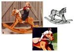 fee plans woodworking resource from WoodworkersWorkshop Online Store - rocking horses,wooden,rocking,furniture,rockers,childs,childrens,kids,playing,horseback riding,full-sized,templates,patterns,woodworking,plans,projects
