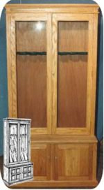 Gun Cabinet for 8 Guns Woodworking Plan